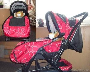 Продается красная детская коляска недорого - Изображение #1, Объявление #1121559