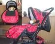 Продается красная детская коляска недорого